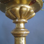 candlestick lamp before restoration