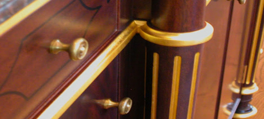 furniture gilding detail