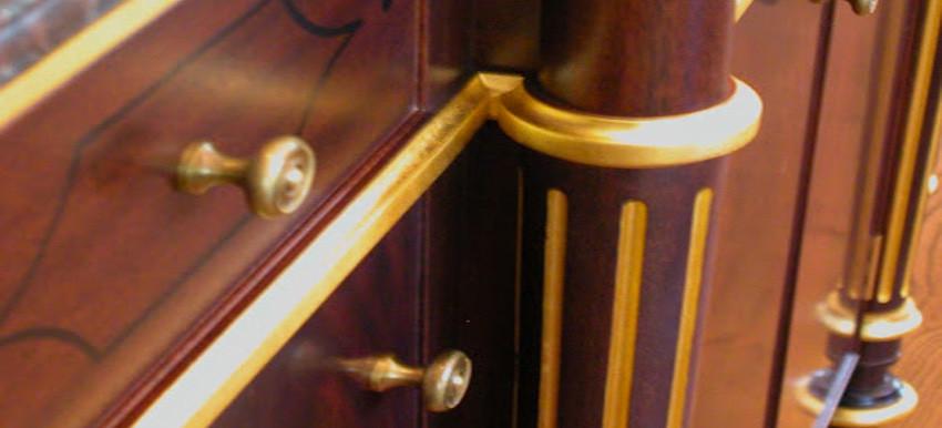 furniture gilding detail