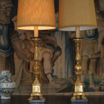 Candle stick lamps after restoration