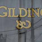 Gilding on glass