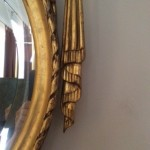 gilding on a mirror
