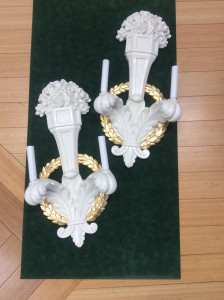 gilded sconces